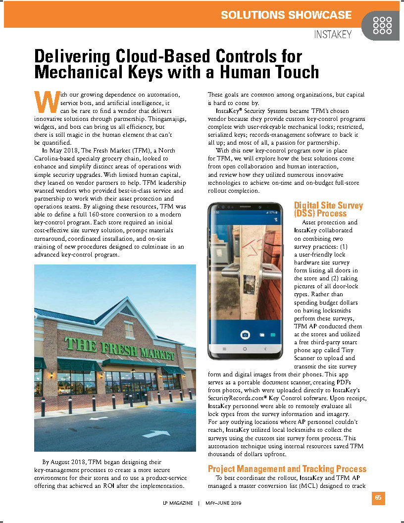 Delivering Cloud-Based Controls for Mechanical Keys with a Human Touch