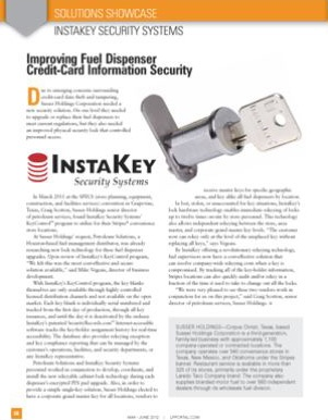 Improving Fuel Dispenser Credit Card Information Security