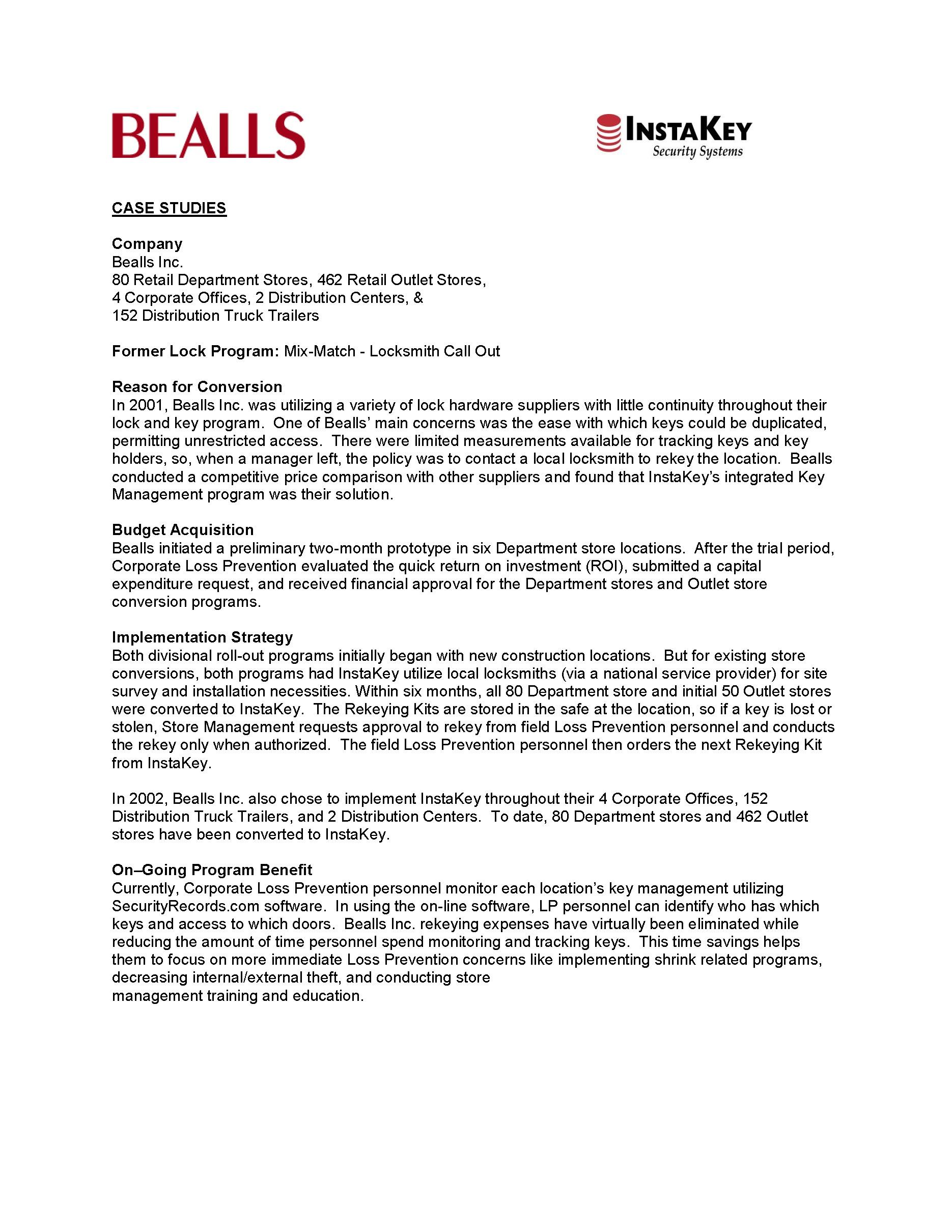Bealls – A Case Study