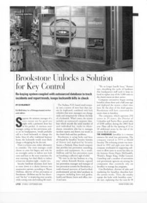 Brookstone Unlocks a Solution for Key Control