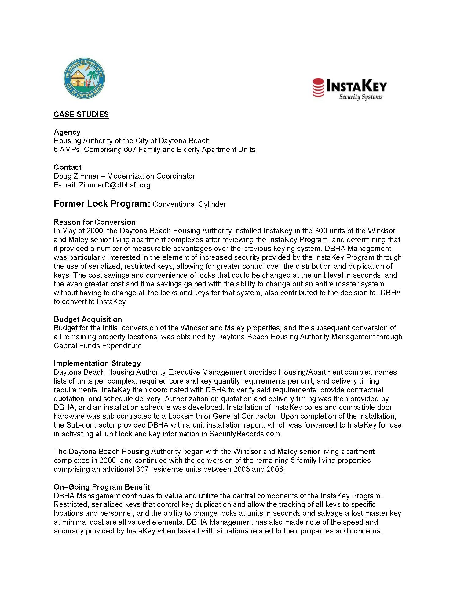 Daytona Beach Housing Authority – A Case Study