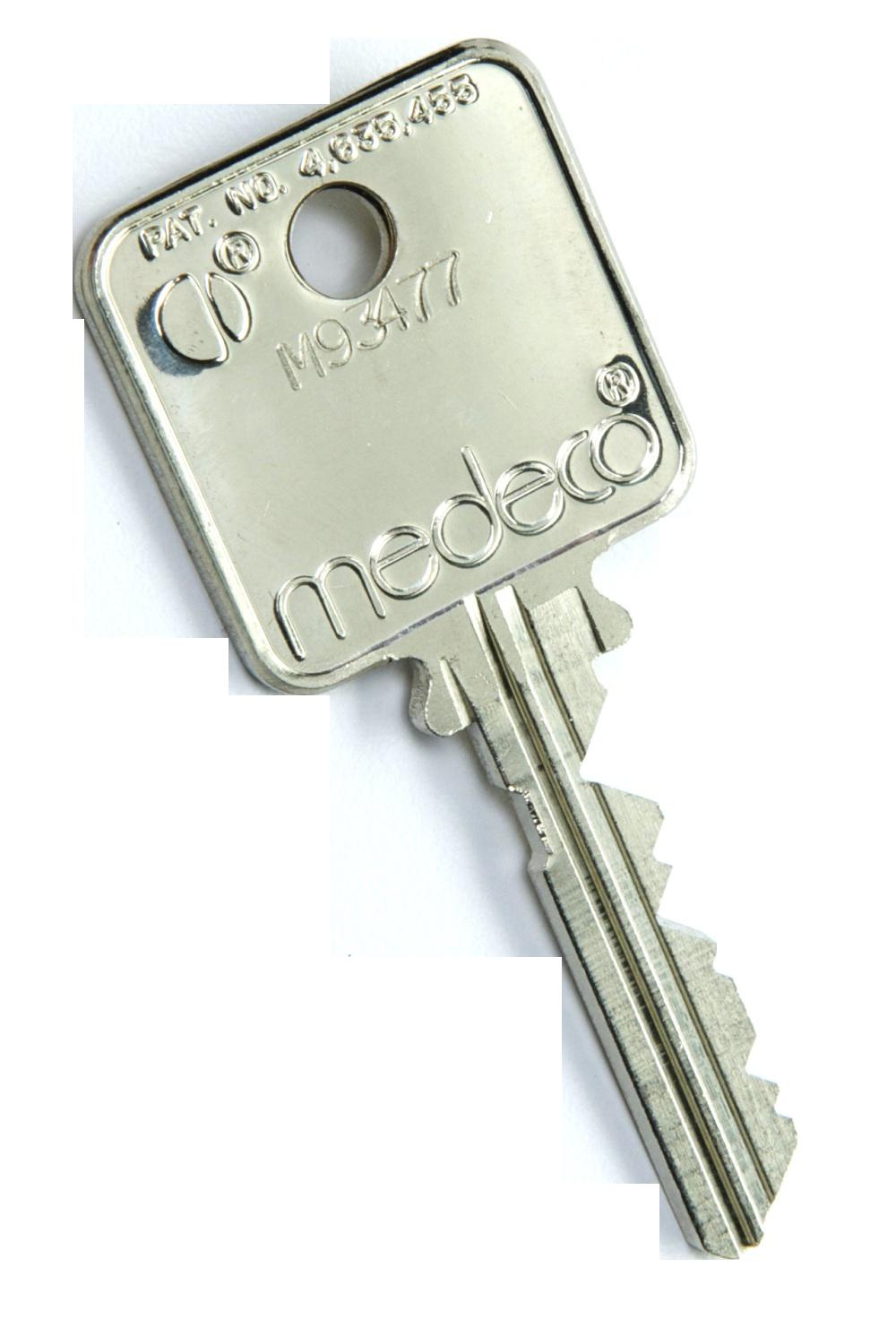 HSEC Medeco Key Back