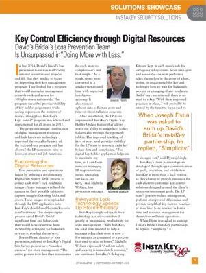 Key Control Efficiency Through Digital Resources
