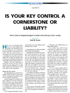 Is Your Key Control a Cornerstone or a Liability?