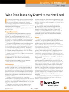 Winn Dixie Takes Key Control to a New Level