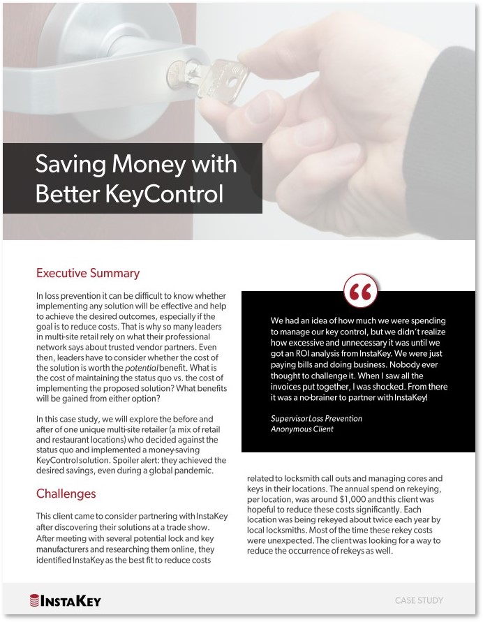 Saving Money With Better Key Control– A Case Study on an Anonymous Client